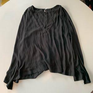 Free People Top Size Medium Black Sleeveless